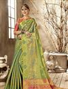 image of Kanchipuram Style Art Silk Green Color Traditional Fancy Saree