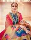 photo of Jacquard Work Banarasi Silk Fabric Sky Blue Festive Wear Lehenga With Jacquard Work