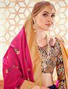 photo of Jacquard Work Wedding Wear Lehenga Choli In Banarasi Silk Fabric Blue