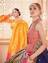 photo of Jacquard Work On Wedding Wear Bridal Lehenga In Banarasi Silk Fabric Pink With Blouse