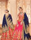 image of Jacquard Work On Wedding Wear Bridal Lehenga In Banarasi Silk Fabric Pink With Blouse