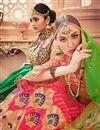 photo of Jacquard Work On Pink Designer Lehenga In Banarasi Silk Fabric With Blouse