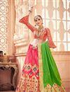 image of Jacquard Work On Pink Designer Lehenga In Banarasi Silk Fabric With Blouse