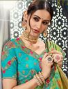 photo of Green Designer Saree In Bhagalpuri Silk Fabric With Embroidery Designs And Attractive Blouse