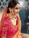 photo of Bhagalpuri Silk Fabric Salmon Occasion Wear Saree With Embroidery Work And Designer Blouse