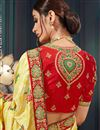 photo of Yellow Designer Saree In Bhagalpuri Silk Fabric With Embroidery Designs And Attractive Blouse