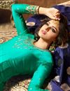 photo of Satin Georgette Fabric Light Teal Function Wear Embroidered Anarkali Suit
