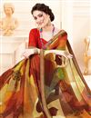 photo of Multi Color Casual Wear Georgette Fancy Printed Saree