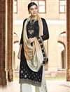 image of Cotton Fabric Designer Festive Wear Palazzo Dress With Embroidery