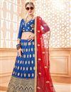 image of Sangeet Function Wear Embroidered Designer Blue Art Silk Lehenga Choli