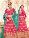 image of Sangeet Function Wear Embroidered Designer Lehenga Choli In Pink Art Silk