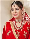 photo of Embroidered Designer Sangeet Function Wear Velvet Lehenga Choli In Red