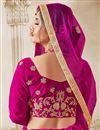 photo of Designer Sangeet Function Wear Magenta Color Embroidered Lehenga Choli In Velvet