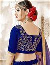 photo of Sangeet Function Wear Embroidered Designer Blue Velvet Lehenga Choli