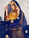 photo of Fascinating Fancy Golden Wedding Wear Designer Satin Silk Fabric Wedding Lehenga Choli