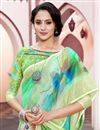 photo of Linen Fabric Festive Wear Multi Color Saree With Digital Print Work