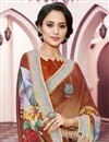 photo of Digital Printed Fancy Linen Fabric Festive Wear Multi Color Saree