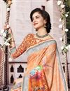 photo of Festive Wear Multi Color Fancy Linen Fabric Digital Printed Saree