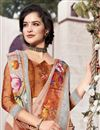photo of Festive Wear Linen Fabric Fancy Multi Color Digital Printed Saree