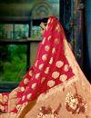 photo of Festive Wear Fancy Dark Pink Weaving Work Saree