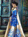 photo of Festive Wear Fancy Weaving Work Saree In Blue