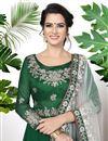 photo of Embroidered Georgette Designer Festive Wear Green Anarkali Suit