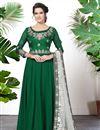 image of Embroidered Georgette Designer Festive Wear Green Anarkali Suit
