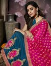 photo of Party Wear Art Silk Fabric Embellished Saree In Sky Blue