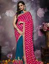 image of Party Wear Art Silk Fabric Embellished Saree In Sky Blue