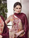 photo of Impressive Cotton Fabric Peach Embroidered Patiala Salwar Suit