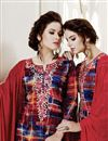photo of Marvelous Cotton Fabric Red Patiala Salwar Suit