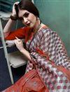 photo of Festive Wear Orange Color Fancy Art Silk Weaving Work Saree