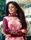 photo of Kritika Kamra Designer Printed Festive Wear Pink Straight Cut Suit In Brasso Fabric