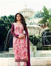 image of Kritika Kamra Designer Printed Festive Wear Pink Straight Cut Suit In Brasso Fabric