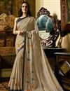 image of Esha Gupta Lace Work On Silk Georgette Fabric Designer Saree In Cream