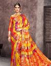 image of Multi Color Art Silk Fabric Designer Saree With Jacquard Work Designs And Enchanting Blouse