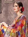 photo of Jacquard Work Designs On Art Silk Fabric Occasion Wear Saree In Multi Color With Enticing Blouse