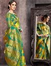 photo of Multi Color Art Silk Fabric Party Wear Saree With Jacquard Work And Enigmatic Blouse