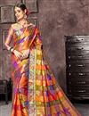 image of Multi Color Art Silk Fabric Designer Saree With Jacquard Work And Party Wear Blouse