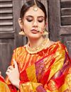 photo of Jacquard Work On Art Silk Fabric Multi Color Function Wear Saree With Party Wear Blouse
