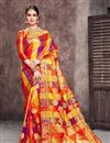 image of Jacquard Work On Art Silk Fabric Multi Color Function Wear Saree With Party Wear Blouse