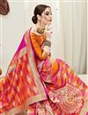 photo of Art Silk Fabric Multi Color Party Wear Saree With Weaving Work And Charming Blouse