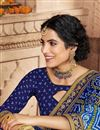 photo of Blue Festive Style Georgette Fancy Bandhani Print Saree With Lace Boder