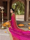 photo of Festive Style Mustard Fancy Bandhani Print Saree In Georgette With Boder