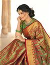 photo of Occasion Wear Banarasi Silk Fabric Weaving Work Saree In Green With Designer Blouse