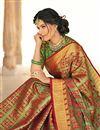 photo of Occasion Wear Banarasi Silk Fabric Weaving Work Saree In Green With Designer Blouse