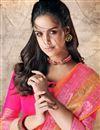photo of Occasion Wear Cotton Silk Fabric Weaving Work Saree In Orange