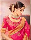 photo of Party Wear Art Silk Fancy Pink Designer Saree With Embroidery