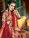 photo of Art Silk Fabric Maroon Color Festive Wear Saree With Embroidery Work