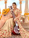 photo of Chikoo Color Georgette Fabric Festive Wear Saree With Embroidery Work